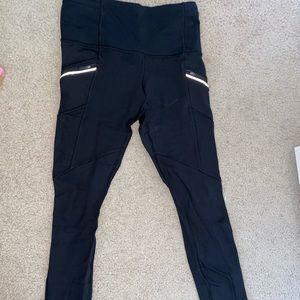 Lululemon Black Ski Leggings, Size 4
